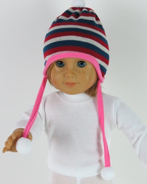 Sale Striped Beanie Hat