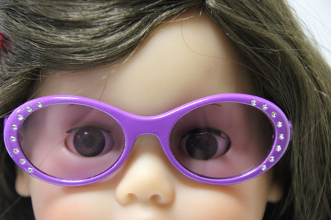 Purple Sunglasses with Rhinestones