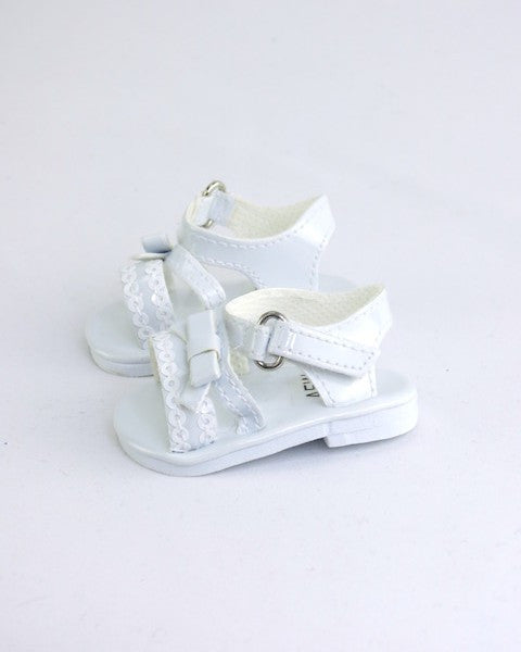 White Sequin Sandals