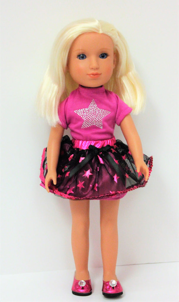 WW Hot pink Star Skirt Outfit