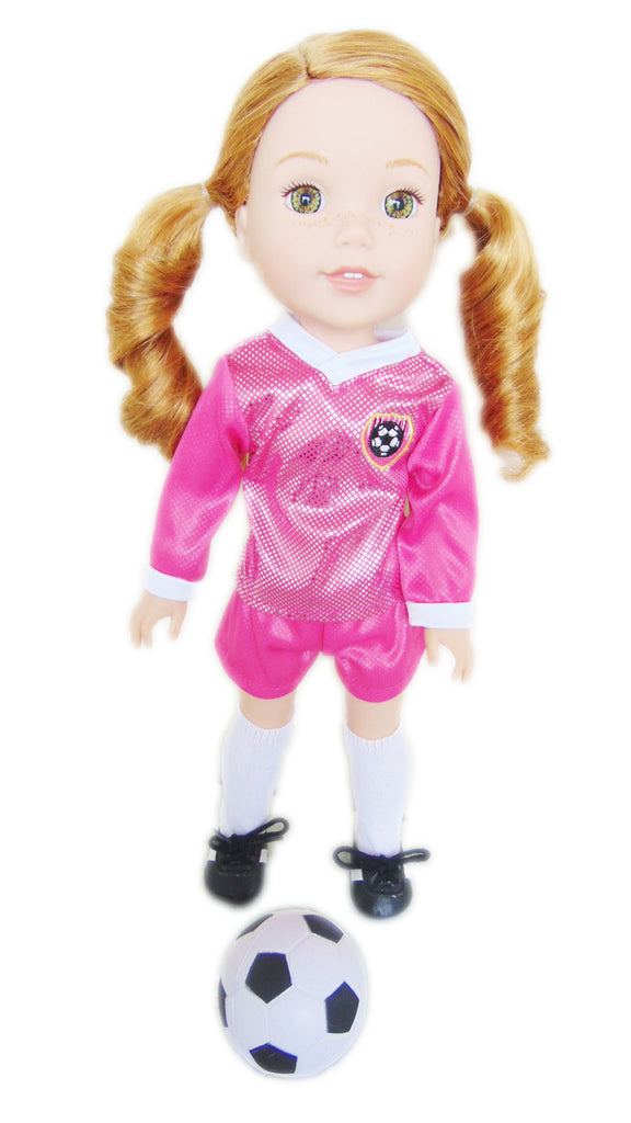 Pink Soccer Uniform for WellieWisher