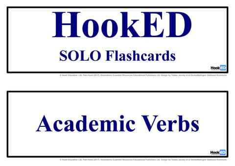 SOLO Flashcards Academic Verbs: Download