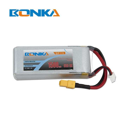 Drone Accessories - 1500mAh 3S 65C Premium LiPo Battery Bonka Power