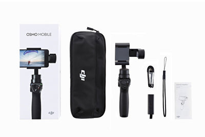 Handheld Gimbal - Osmo Mobile + Tripod + Extension Rod + Free Extra Battery & Base