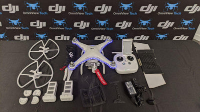 PHANTOM 3 ADVANCED + LED LIGHTS and 2 EXTRA BATTERIES & ACCESSORIES - CERTIFIED PRE-OWNED