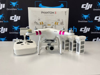 DJI Phantom 3 Professional + 3 Batteries - AS-IS