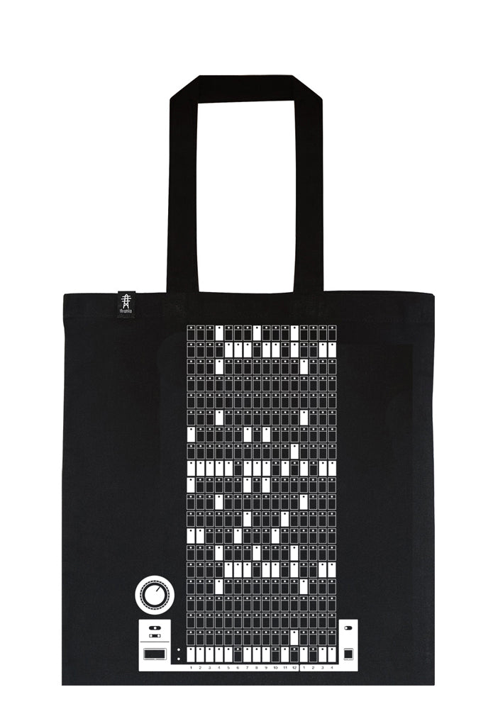 Library Tote - Bamms in White