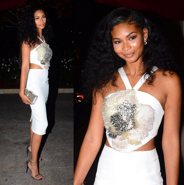 CHANEL IMAN in our LILY DRESS @ VOQUE EVENT