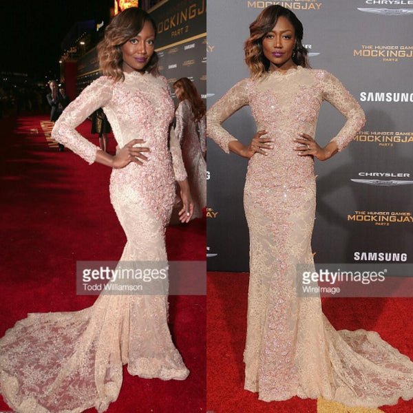 PATINA MILLER in our CHARLIE gown @ the premiere The Hunger Games: Mockingjay – Part 2