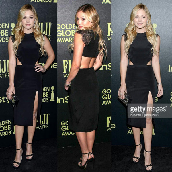 OLIVIA HOLT in our MIRANDA dress @ HFPA and InStyle Celebrate The 2016 Golden Globe Award Season