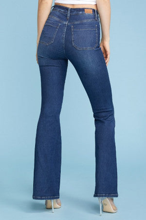High Waist Patch Pocket Jeans