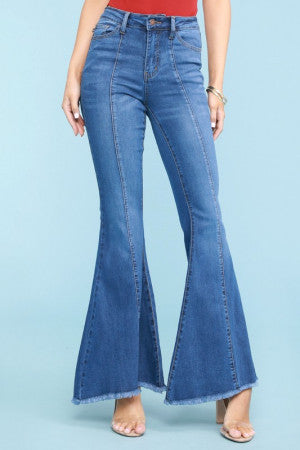 Light Wash Tulip Hem Jeans