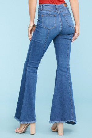 Mid Seam Flare Jeans