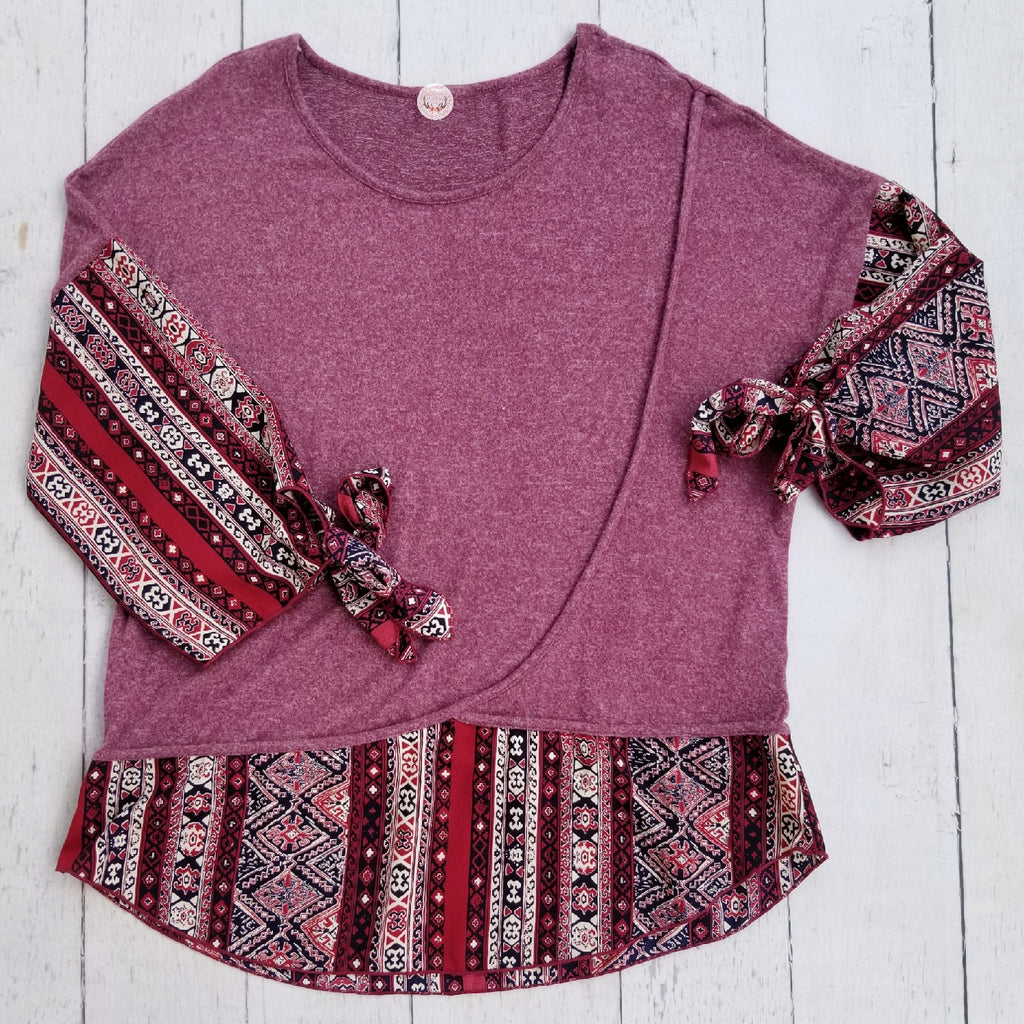 Tribal Detailed Top, Whimsy Willows Boutique