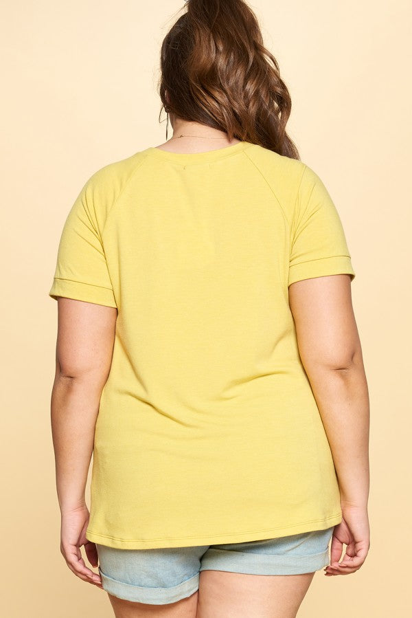 Yellow Terry Top