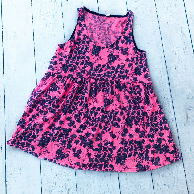 Pink Sleeveless Floral Top