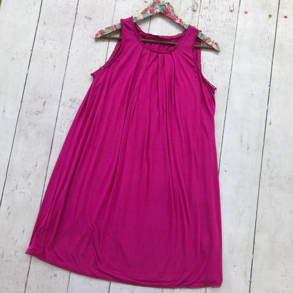 Purple Sleeveless Dress with Crochet Trim, Whimsy Willows Boutique