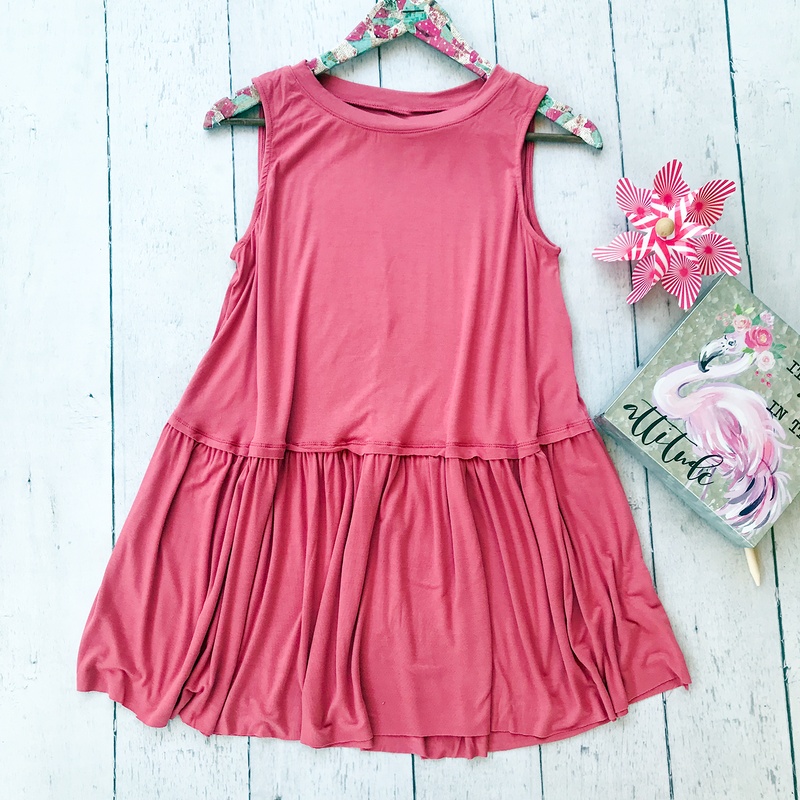 Mauve Sleeveless Ruffle Top, Whimsy Willows Boutique