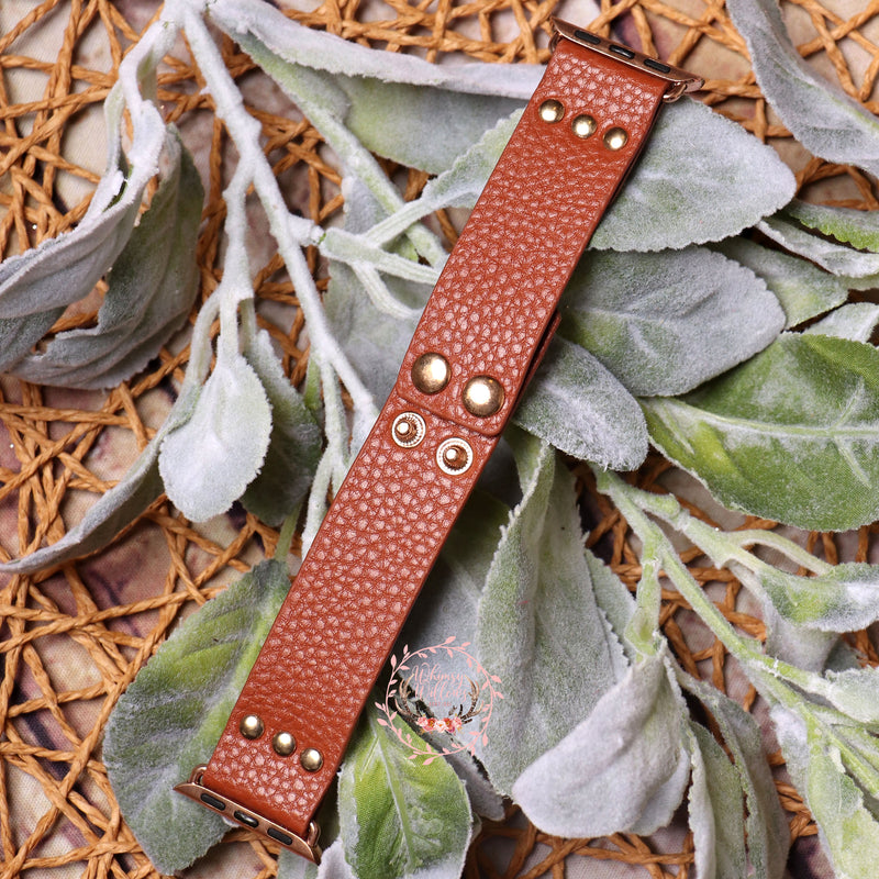 Brown Leather Watchband