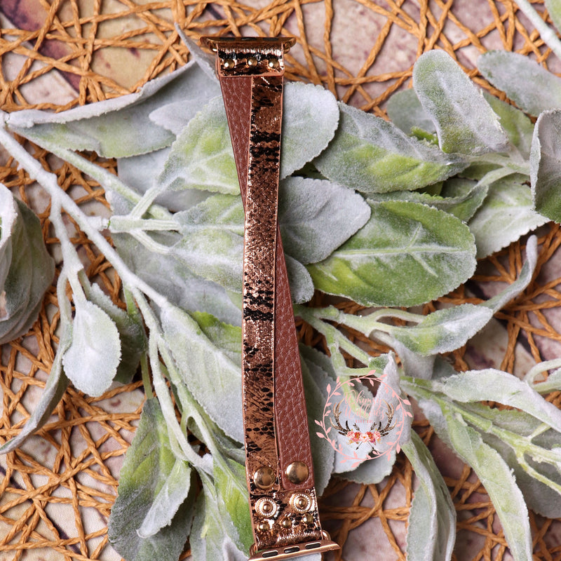 Copper Criss Cross Watchband