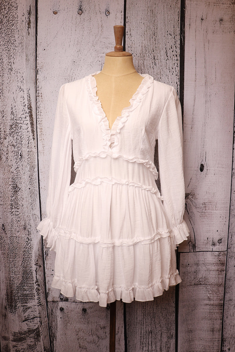 White Tiered Dress