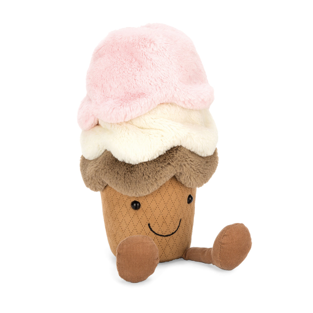 Amuseables Ice Cream Plush, Medium, 12 inches