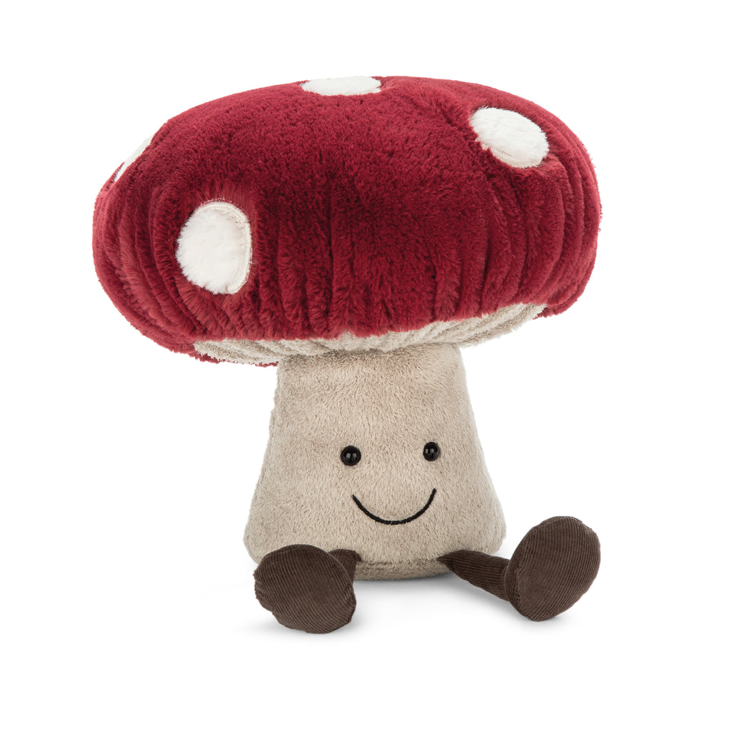 Amuseables Mushroom Plush, Medium, 12 inches