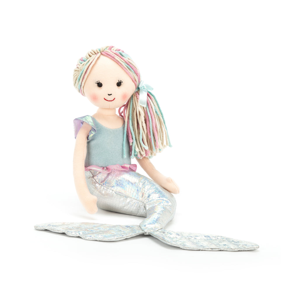 Aqua-Lily Mermaid Stuffed Animal, Little, 13 inches