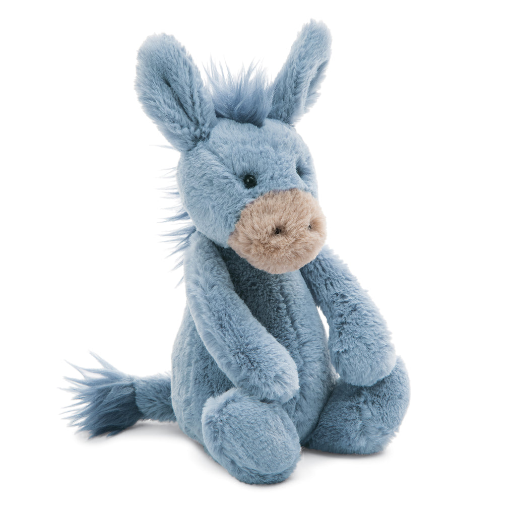 Bashful Donkey Stuffed Animal, Small, 7 inches