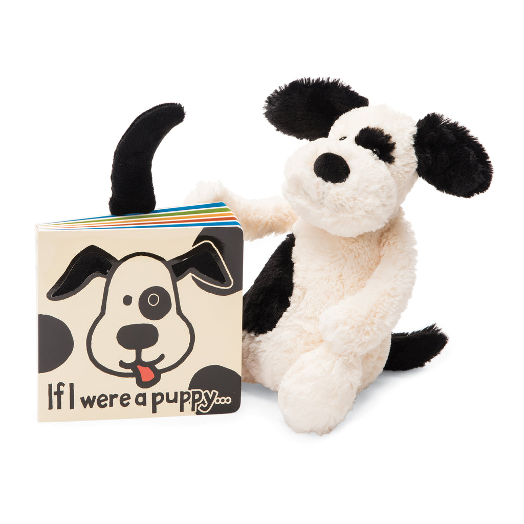 If I Were a Puppy Board Book and Bashful Black and Cream Puppy
