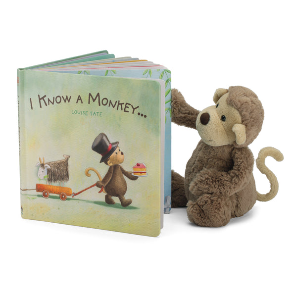 I Know a Monkey Board Book and Bashful Monkey