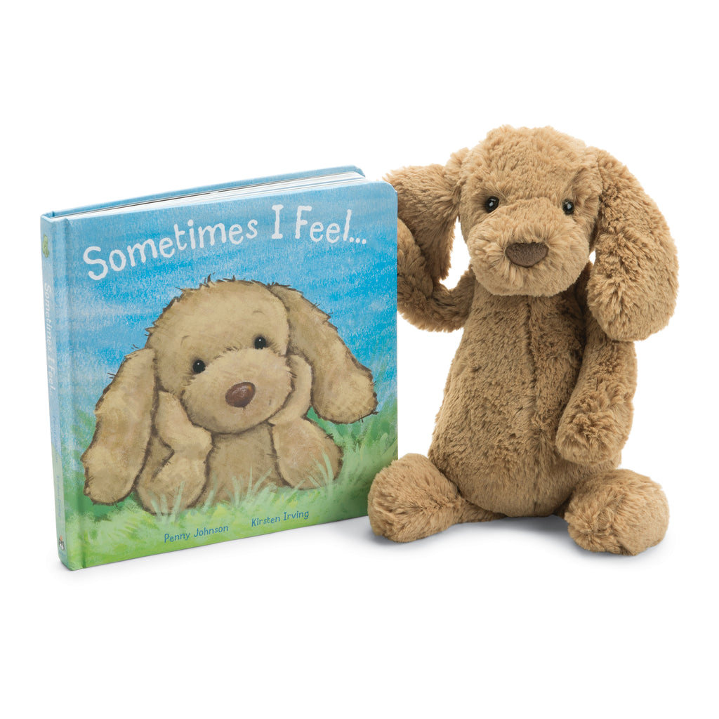 Sometimes I Feel Board Book and Bashful Toffee Puppy