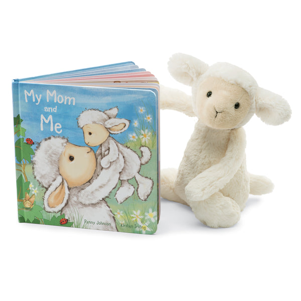 My Mom and Me Board Book and Bashful Lamb