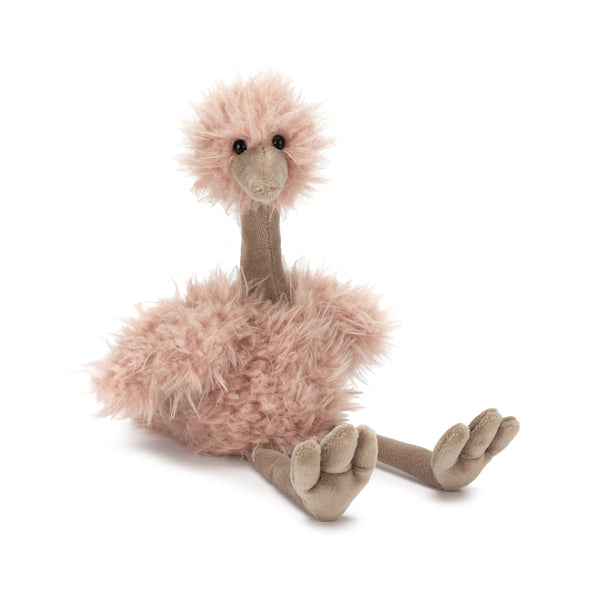 Bonbon Ostrich Stuffed Animal, 10 inches