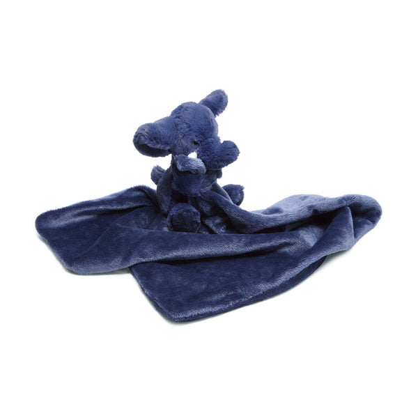 Bashful Dark Blue Elephant Soother