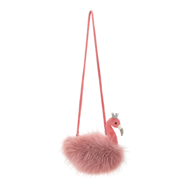 Fancy Flamingo Plush Purse for Kids
