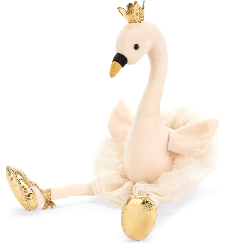 Fancy Swan Stuffed Animal, 15 inches