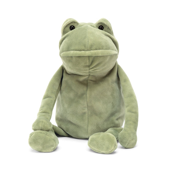 Fergus Frog Stuffed Animal, Medium, 12 inches