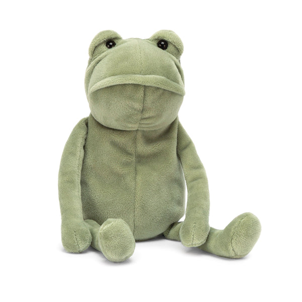 Fergus Frog Stuffed Animal, Little, 8 inches