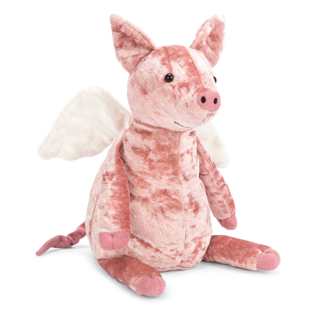 Piggy Might Fly Stuffed Animal, 10 inches