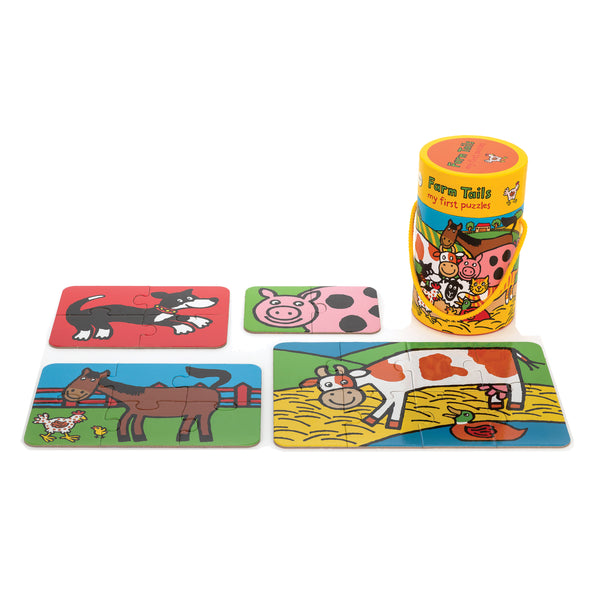 Farm Tails 4 in 1 Puzzles for Toddlers