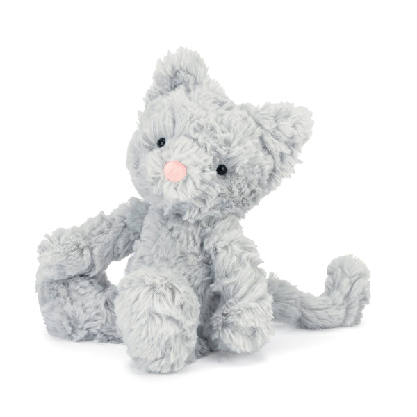 Squiggle Kitty Stuffed Animal, Small, 9 inches