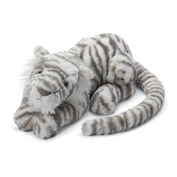 Sacha Snow Tiger Stuffed Animal, Little, 10 inches