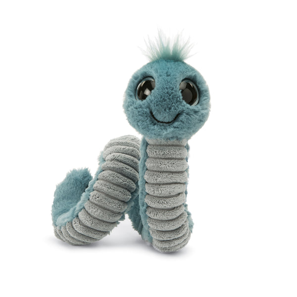 Wiggly Worm Stuffed Animal, Blue, 12 inches