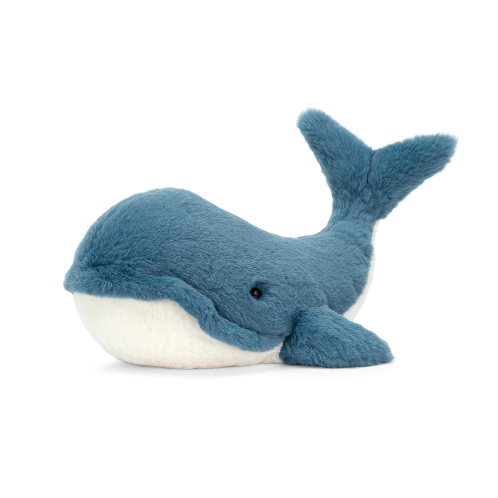 Wally Whale Stuffed Animal, Large, 11 inches