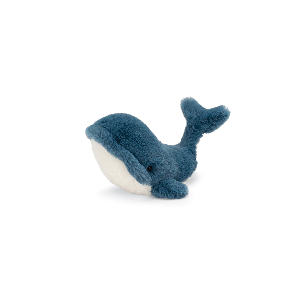Wally Whale Stuffed Animal, Tiny, 6 inches