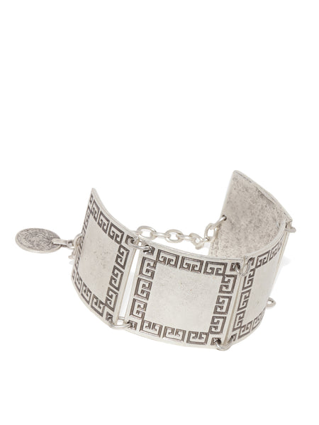 Bold Square Silver Plated Bracelet