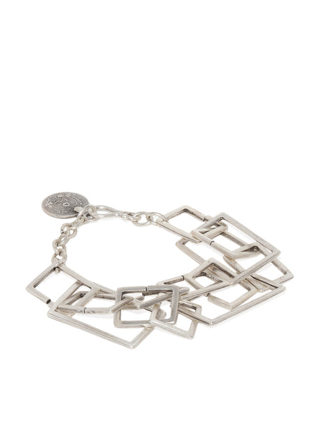 Silver Plated Geometric Linked Bracelet