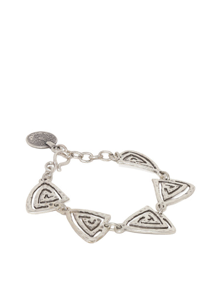 Silver Plated Triangle Bracelet