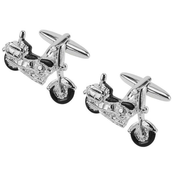Black Motorbike Cufflinks - Thingalicious